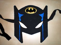 Batman Mask - In the hoop project - machine embroidery applique design - Pattern. $5.59, via Etsy.