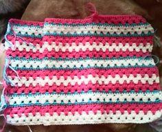 グラニーストライプの編み方と編み図   Crochet and Me かぎ針編みの編み図と編み方