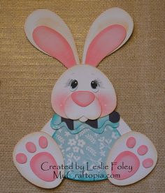 Sitting Bunny Easter Premade Scrapbooking by MyCraftopia on Etsy, $4.95