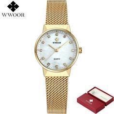 In Fashion Women Watch Creative Follow Dreams Words Pattern Leather Mesh Watch Luxury Ladies Casual Dress Quartz Wristwatch Clock#c Fragrant Flavor