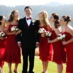 Bridesmaids & Groom at Wedding