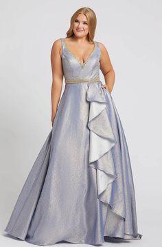 Mac Duggal Fabulouss Plus Size Prom Ball Gown Evening Dresses Plus Size, Plus Size Dresses, Blue Dresses, Short Dresses, Formal Dresses, Formal Prom, Mac Duggal, Plus Zise, Perfect Prom Dress