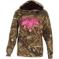 Gift idea for the outdoors lover: Duck Commander Women's Camo Hoodie - $29.99