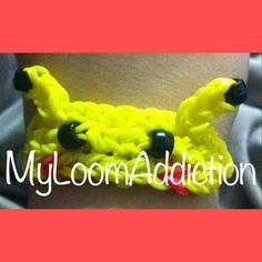 """Pikachu Pokemon """"Rainbow Loom"""" Bracelet on Etsy, $3.00"""