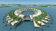 Architectural firm Dutch Docklands has developed, designed and engineered a master plan for 89 floating islands planned for the Middle East. From 'Dutch Docklands to the rescue for Dubai's World project?' on Gizmag.