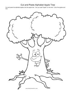 kindergarten cut and paste worksheets | Cut and Paste Alphabet Apple Tree {http://www.kidscanhavefun.com/blog/wp-content/uploads/2010/12/cut-and-paste-alphabet-apple-tree_page0.png}