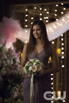 "Vampire Diaries -- ""I'll Wed You in The Golden Summertime"" -- Image Number: VD621b_0450.jpg -- Pictured: Nina Dobrev as Elena -- Photo: Bob Mahoney/The CW -- © 2015 The CW Network, LLC. All rights reserved."