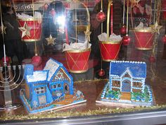 Hanukkah Gingerbread Houses | #hanukkah #chanukkah #decor #holiday