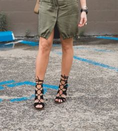 Born To V Lace-Up Heels at Miss Tara Belle's Store | Lookave #LebomboDress #Dress #KhakiDress #ShirtDress #Bailey44 #LaceUpHeels #LaceUp #Sandals #GoJane #MissTaraBelle #MissTaraBelleStore #ootd #onlineshopping #lookave #onlineshopping #streetstyle #style #fashion #outfit @misstarabelle @gojane @shopbailey44