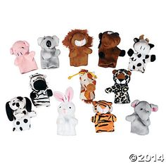 Plush Animal Finger Puppets $10.25