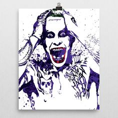 "Jared Leto, Joker poster. A member of the the Suicide Squad is an antihero ""strike team"" of incarcerated, death row supervillains; acting as deniable, covert assets of the United States government, it"