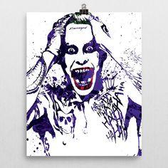 Suicide Squad Joker Jared Leto Poster