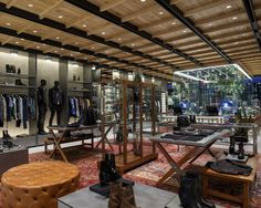 Diesel Flagship Store   Built on the notion of a private apartment, the store features various sections, each with a distinct homely look and feel.