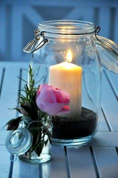 Explore amazing art and photography and share your own visual inspiration! Candle Lanterns, Diy Candles, Candle Jars, Romantic Candles, Beautiful Candles, Chandeliers, Shell Candles, Diy Candle Holders, Good Night Sweet Dreams