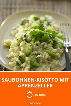 Saubohnen-Risotto mit Appenzeller - smarter - Zeit: 40 Min. | eatsmarter.de