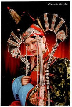 mongolia khalkh wifes clothes by lentui, via Flickr