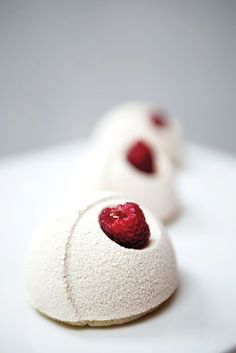 Tout Sweet. Raspberry Sphere Domes.