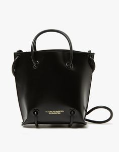 a576b46655 Modern shoulder bag from KOZHA NUMBERS in Black. Smooth box calf leather.  Open top