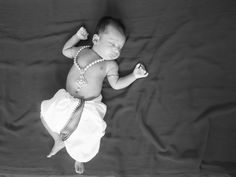2 months old Ishaan in modern lord krishna look