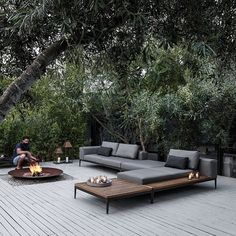 WEBSTA @ archiproducts - GRID Sectional garden sofa designed by Henrik Pedersen for @glosterfurniture. Perfect for your summer nights! Check out more on Archiproducts.com #archiproducts #design #outdoor #garden #terrace #summer