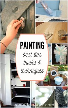Best Paint Colors and Tips from 2016 (Remodelaholic) Do It Yourself Furniture, Do It Yourself Home, Sharpie Wall, Different Types Of Painting, Best Paint Colors, Tips & Tricks, Paint Stain, Stain Wood, Paint Furniture