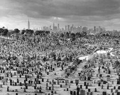 Arthur Tress, Cemetery View, Queens, New York, 1969 Arthur Tress, Gelatin Silver Print, Cemetery, Surrealism, Street Photography, Monochrome, City Photo, The Neighbourhood, Photo Wall