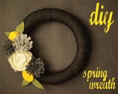 Oleander and Palm: DIY Spring Wreath