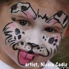 gdalmation puppy face paint
