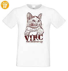 Geschenk für Katzenfreunde :-: T-Shirt mit Katzen Motiv :-: VIC :-: Geschenkidee für Tierfreunde zum Geburtstag Vatertag Weihnachten :-: Farbe: weiss Gr: 5XL (*Partner-Link)