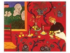 The Red Room Art Print by Henri Matisse at Art.com