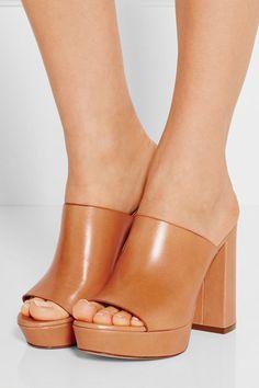 Mansur Gavriel | Leather platform sandals | NET-A-PORTER.COM
