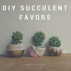 Thirty Day Dash | DIY Wedding and Day-of Wedding Services | DIY Succulent Favors www.thirtydaydash.com