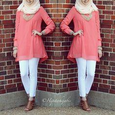 Pretty, feminine and sophisticated hijab style Islamic Fashion, Muslim Fashion, Modest Fashion, Hijab Fashion, Fashion Outfits, Fashion Trends, Modest Wear, Modest Dresses, Muslim Girls