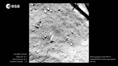 """We finally have interpolated """"video"""" footage of the comet landing from last year and it's wonderful! Enjoy!"""