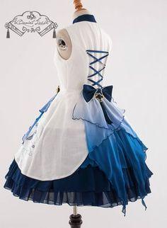 QuaintLass -Lotus with Fragrance- Qi Lolita Jumper Dress,Lolita Dresses, Kawaii Fashion, Lolita Fashion, Cute Fashion, Moda Lolita, Lolita Mode, Pretty Outfits, Pretty Dresses, Beautiful Outfits, Dress Outfits
