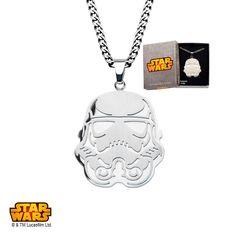"Stainless Steel Star Wars Storm Trooper #Pendant with 24"" #Chain. #jewelry #StarWars #Disney #stormtrooper #darkside"