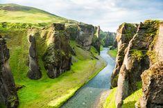 Fjud. Canyon. Iceland