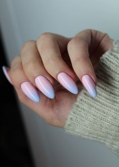 Fashion girls have always loved ombre nails because of their wide variety of colors, perfect for any occasion in any season.we collected 30 ombre nails designs that can give you new inspiration and help you create a sharp image in a new season. Ombre Nail Designs, Pretty Nail Designs, Nail Art Designs, Nails Design, Pastel Nails, Pink Nails, My Nails, Red Nail, Trendy Nails