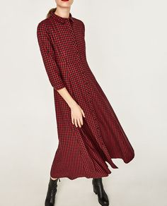 ZARA - WOMAN - CHECK SHIRT DRESS