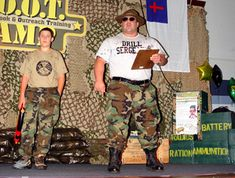boot camp vacation bible school | Many skits were performed during the week.