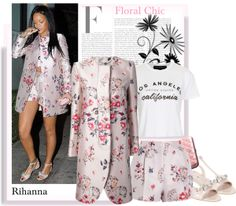 """""""Rihanna Floral Chic"""" by lilieshomeandgarden on Polyvore"""