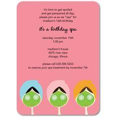 spa invitation wording