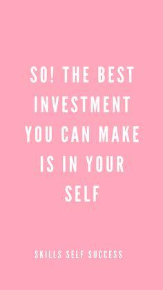 Inspired by Warren Buffet | Skills & Self = Success