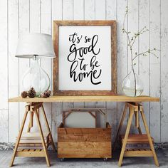 It's so good to be home - Printable Poster - Typography Print Black & White Wall Art Poster Print - Coco Jones Quote
