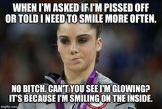 McKayla Maroney Not Impressed