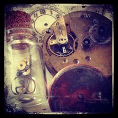 Clock and cog steampunk art