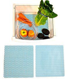 Blue Large Shelf Fridge Coaster - Set of Three   zulily