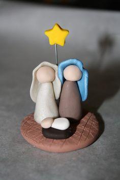 Polymer Clay Nativity Scene Figurine.