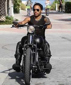 Lenny Kravitz Takes A Ride Through Miami