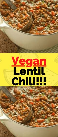 This deliciously easy vegan lentil chili is sure to impress… Ingredients      2 cups yellow onion, diced     1 TBSP olive oil     1 large green bell pepper, diced     1 large red bell pepper, diced     2 jalapeños plus extra to garnish     2-4 cloves garlic, minced     1 cup corn (frozen or fresh)     1 can spicy chili beans with sauce (15 oz])     1 cup cooked black beans, drained and rinsed     2 TBSP chili powder     1 TBSP cumin     1 tsp dried oregano     1/2 tsp smoked paprika, plus extra Recipe Cover, Spicy Chili, Cooking Black Beans, Garlic Minced, Best Vegan Recipes, No Bean Chili, Smoked Paprika, Bell Pepper, Veggie Dishes
